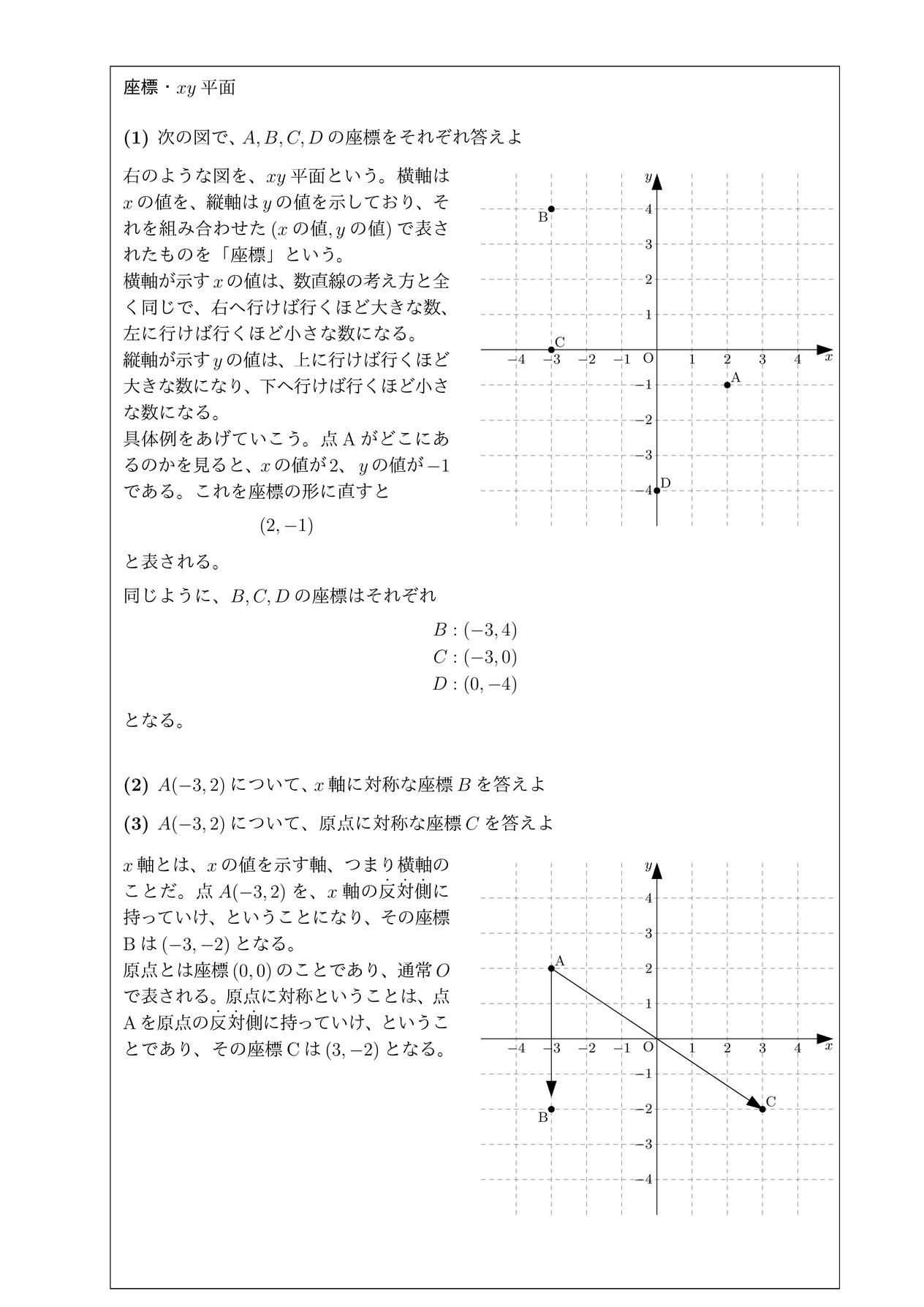 座標・xy平面