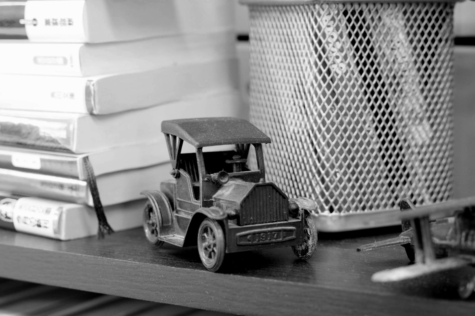 車の鉛筆削り